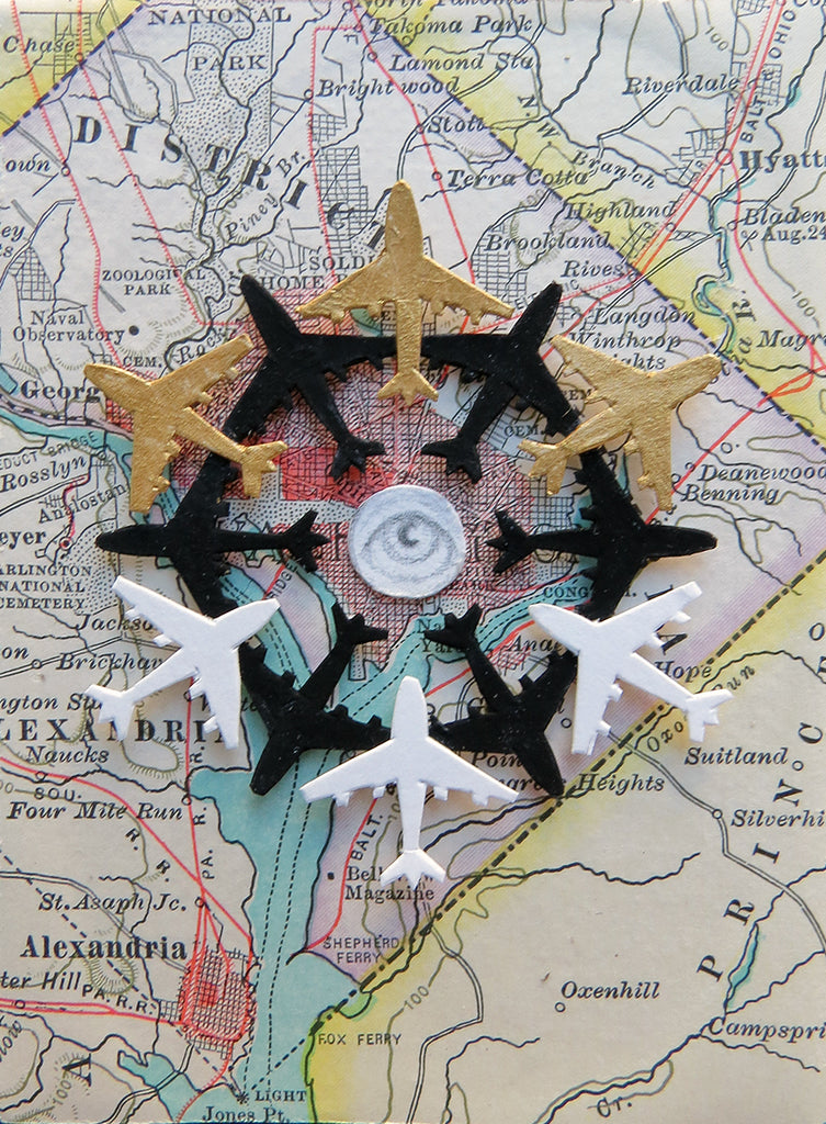 "EL AVION ""Eye Of The Storm"" (The Airplane) #81 by artist Valerie Savarie"