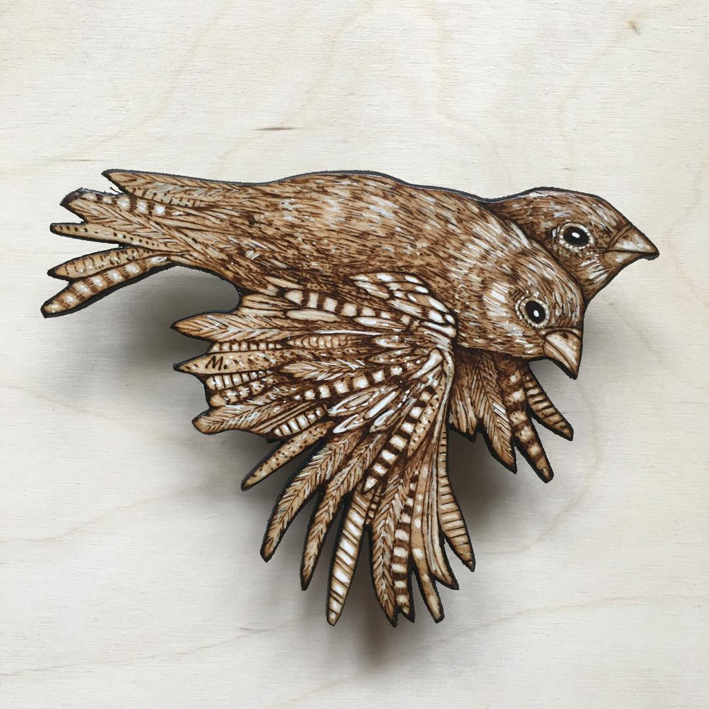FIVE INCH FINCH VII by artist Samantha Mullen