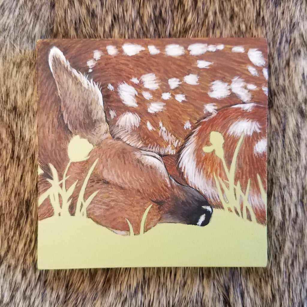 SLEEPING FAWN by artist Lena Sayadian