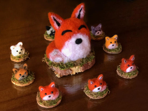 WEE MIXED FOX by artist Francesca Rizzato