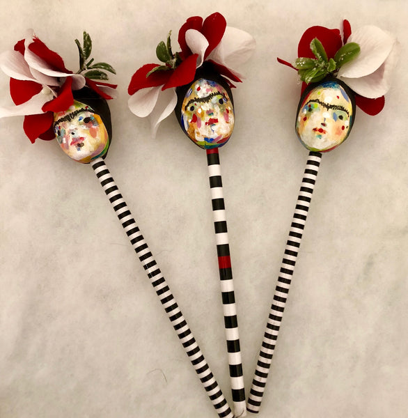 FRIDA ORNAMENT/PENCIL TOPPER 3 by artist Patricia Anders