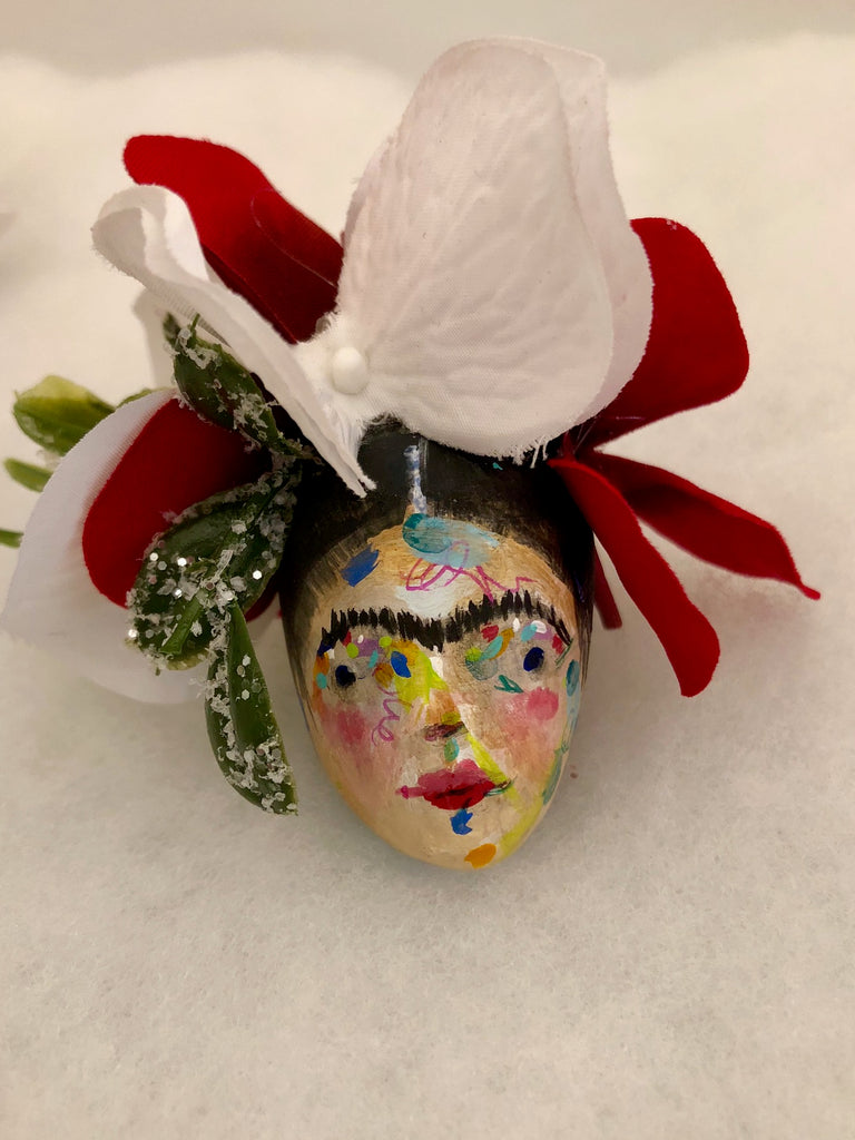 FRIDA ORNAMENT/PENCIL TOPPER 4 by artist Patricia Anders