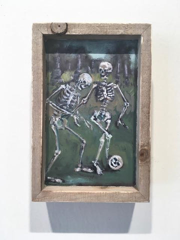 LOS FUTBOLISTAS (The Soccer Players) #82 / Don't Be a Poor Sport by artist Nancy Cintron
