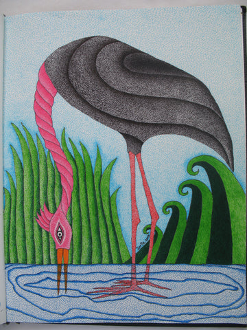 La Garza #19 (The Heron) by artist Jorge Bernal