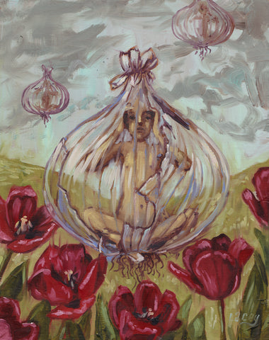 LOOKING THROUGH A GLASS ONION by artist Lacey Bryant