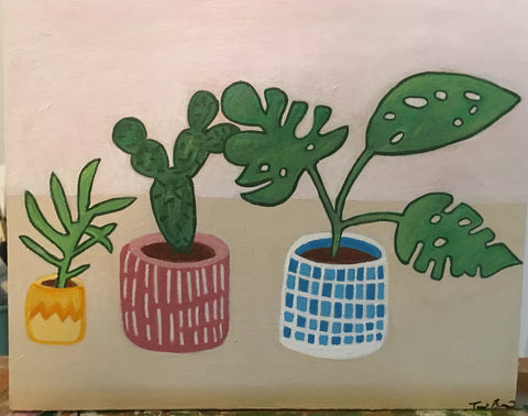 HAPPY PLANTS by artist Terri Berman