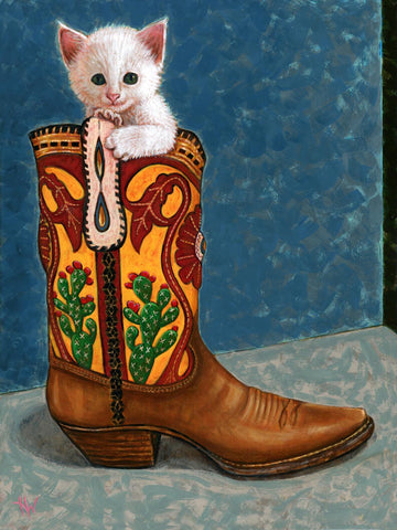 LA BOTA (The Boot) /Puss en Bota #22 by artist Holly Wood