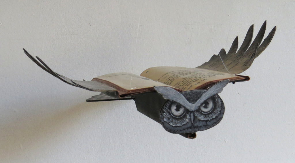 BUBBA (horned owl) by artist Valerie Savarie