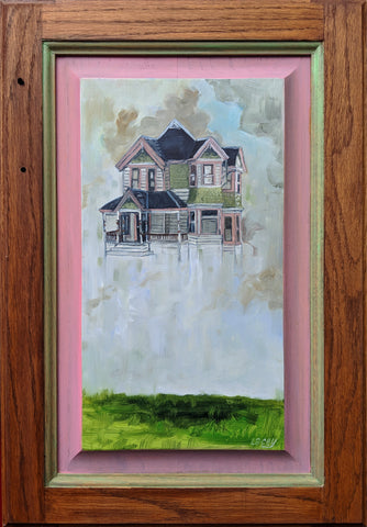 HOUSE (PINK & GREEN) by artist Lacey Bryant