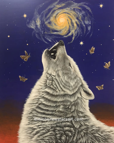 HOWLING TO THE ANCESTORS by artist Michelle Waters