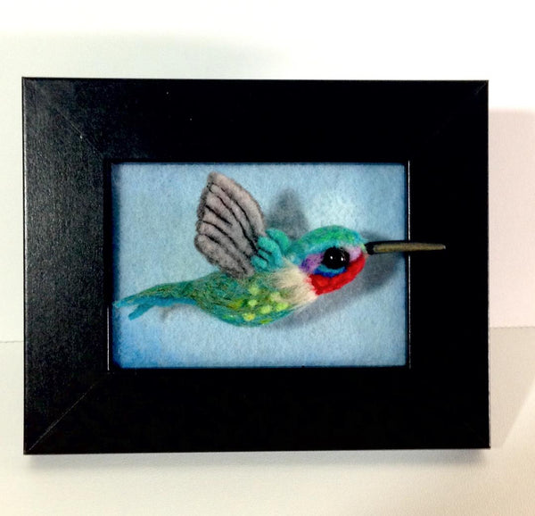 HUMMINGBIRD BROOCH by artist Julie B