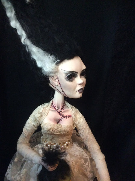 "BRIDE OF FRANKENSTEIN aka ""You're Not the Boss of Me Frank!"" by artist Linda Lyons"
