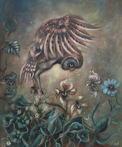 TANGLED OWL by artist Ingrid Tussel