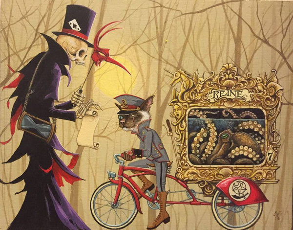 The Blackthorn Smugglers Never Rode Alone... Death was Always Right Over Their Shoulder by artist Joe Vollan