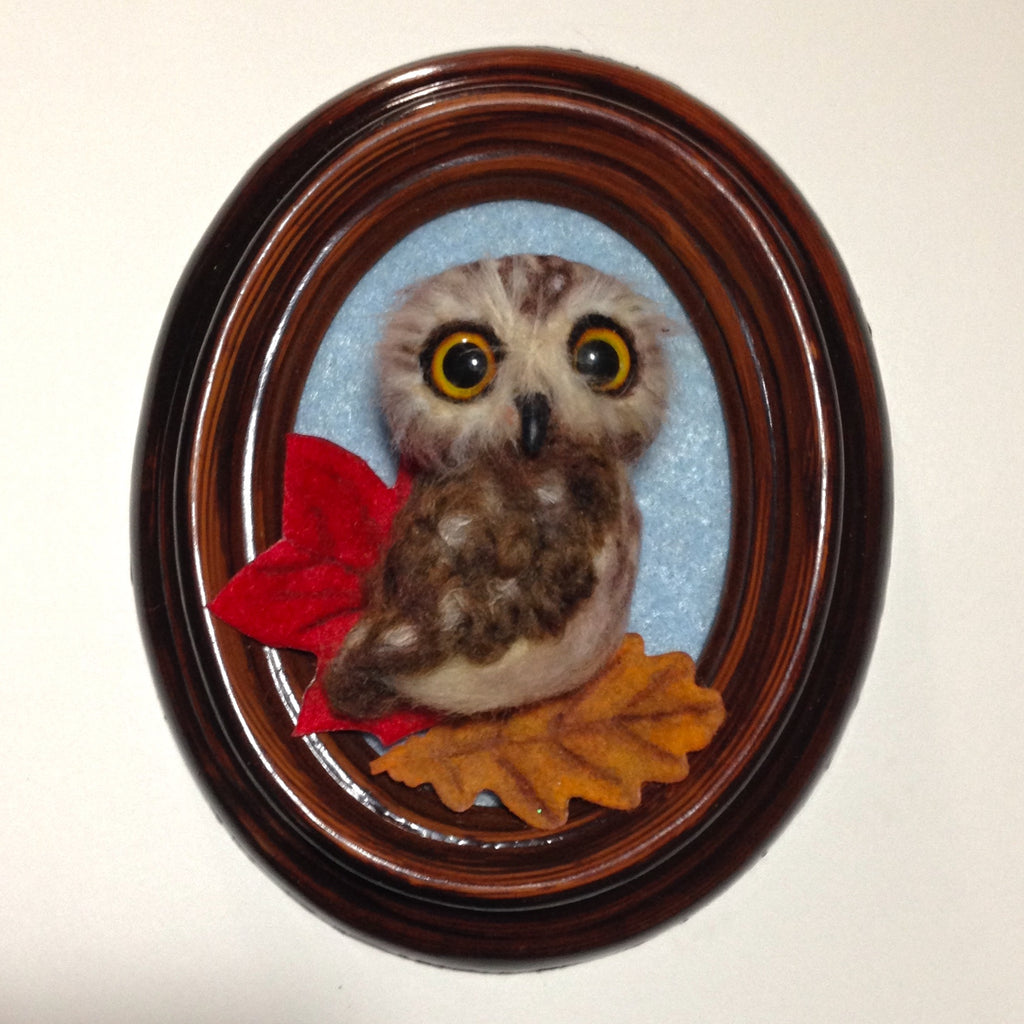 OWL BROOCH by artist Julie B