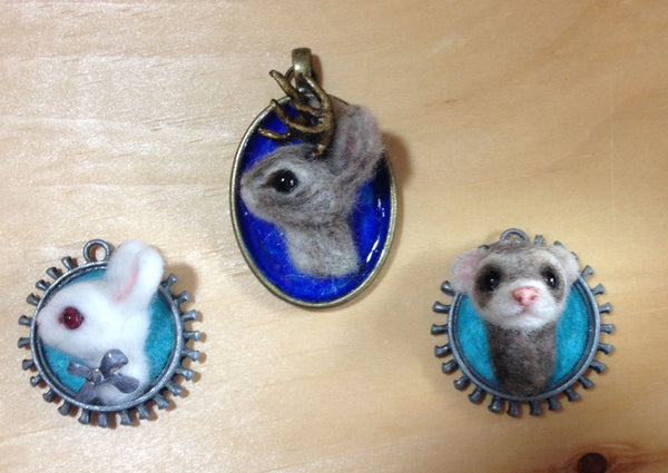 Ferret Necklace by artist Julie B