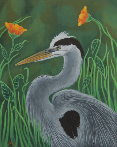 #19 LA GARZA (The Heron) by artist Michelle Waters