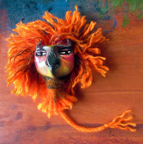 Large Orange Bete by artist Patricia Krebs