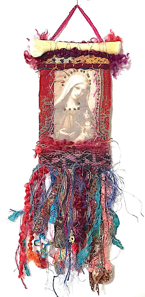 DEVOTIONAL ORNAMENT/HANGING III by artist Mavis Leahy