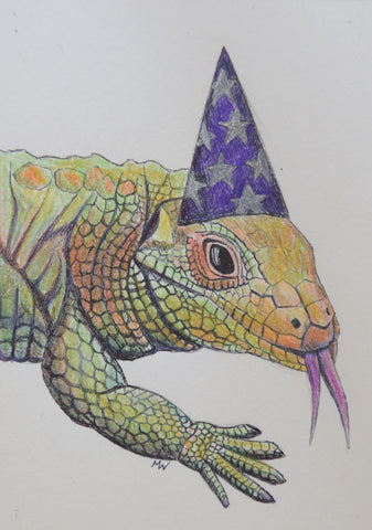 EL LAGARTO #75 (The Alligator) ~ Lizard Wizard ~ by artist Michelle Waters