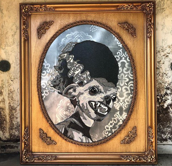 THE BRIDE OF FRANKENCHI by artist Lori Herbst