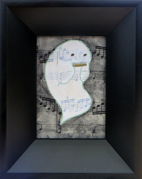 "EL ORGANO ""Lost Soul Blues"" (The Harmonica) #78 by artist Valerie Savarie"