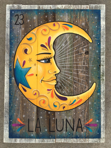 La luna #23 (The Moon) by artist Ruth Barrera