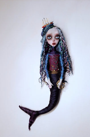 Greek Pagan Folktales: Η βεργόνα της Αττάλειας/ The Mermaid of Attaleia (Symi) by artist Anima ex Manus Art Dolls