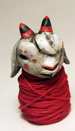 PERSONAL SCAPEGOAT (MINI, Horns, Ears Down) by artist Carisa Swenson