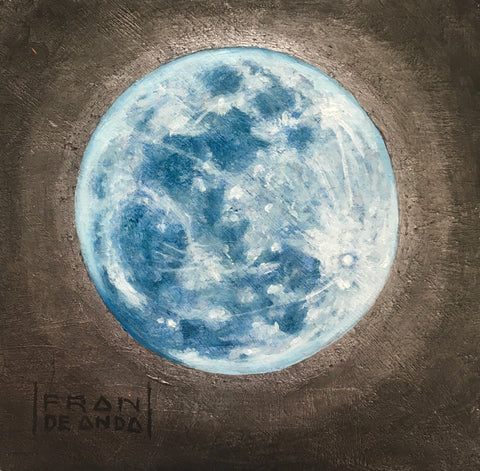 MOON by artist Fran De Anda