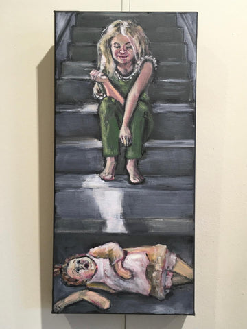 POOR MORRIS! YOU FELL DOWN THE STAIRS AGAIN! by artist Nancy Cintron