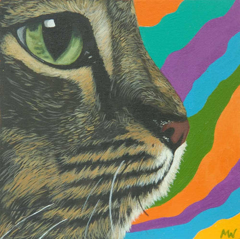 """Psychedelic Cat"" by artist Michelle Waters"