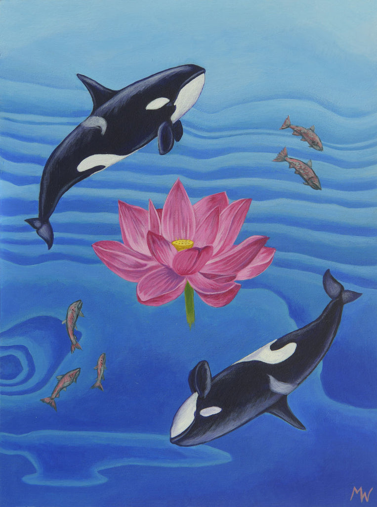 ORCA ASANA by artist Michelle Waters