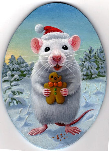 MOUSE WITH GINGER MAN by artist Olga Ponomarenko