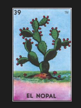 EL NOPAL (The Prickly Pear Cactus) Wood Cut by artist Sarah Polzin