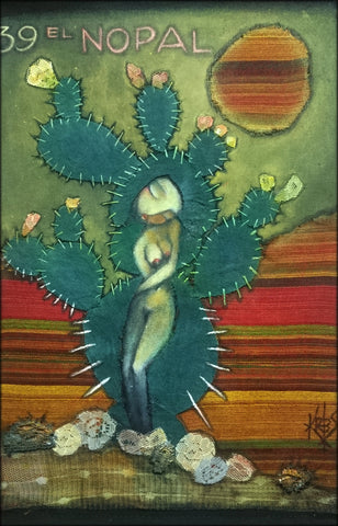 EL NOPAL (The Prickly-Pear Cactus) #39 by artist Patricia Krebs