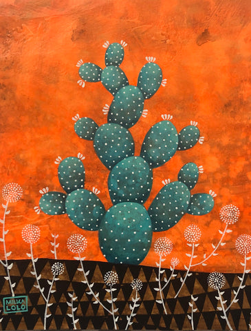 EL NOPAL (The Prickly Pear Cactus) #39 by artist Milka LoLo
