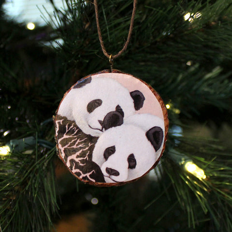 Pandas Ornament by Lena Sayadian