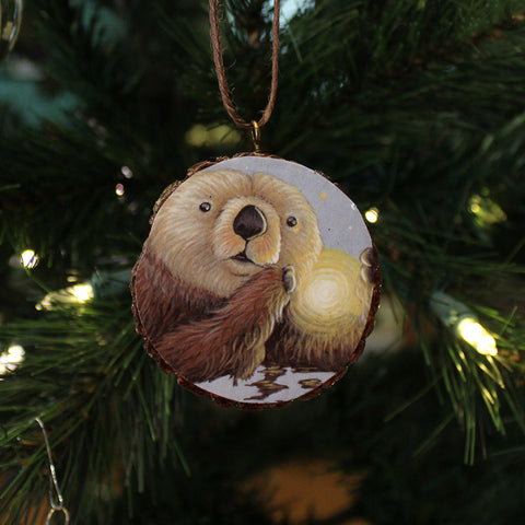 Spirit Otter Ornament by Lena Sayadian