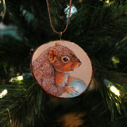 Squirrel Ornament by Lena Sayadian