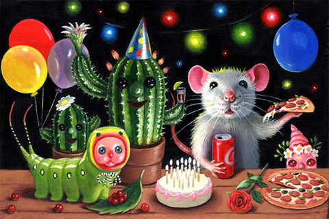 PARTY IS ON by artist Olga Ponomarenko