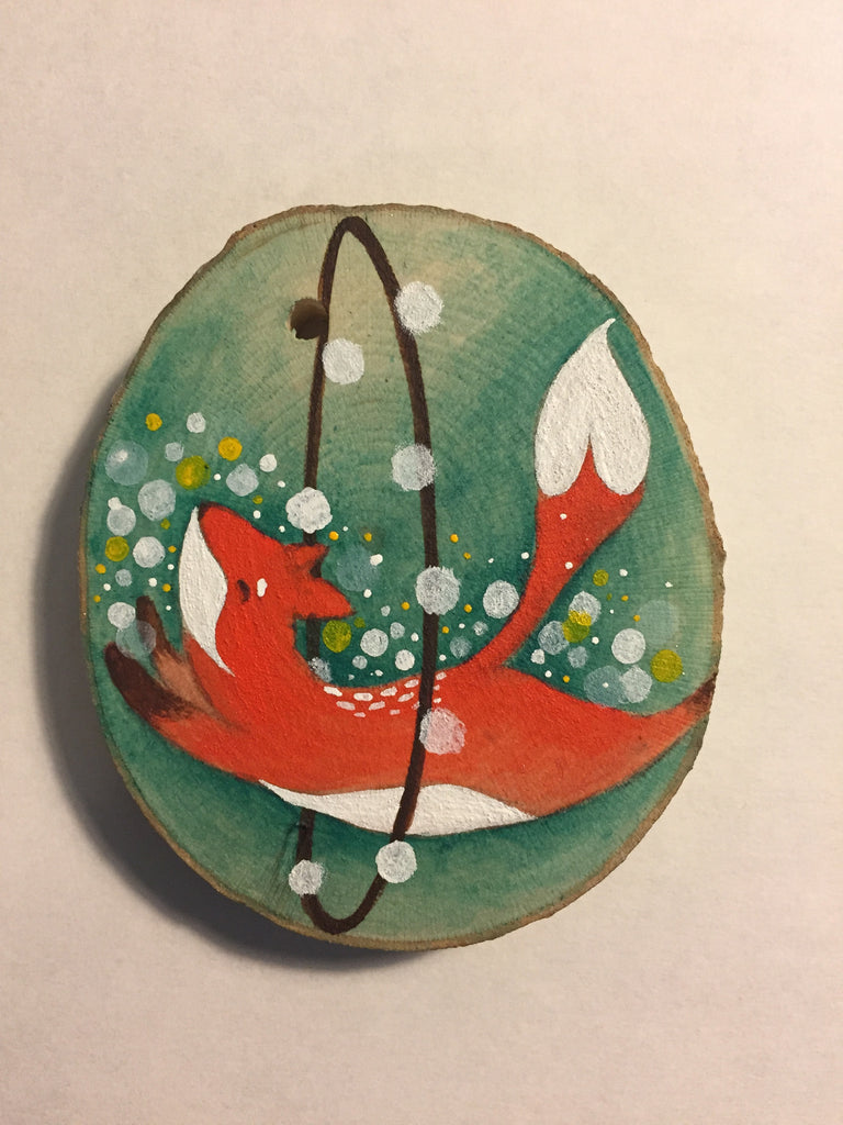 Jumpy Fox by artist Malathip Kriheli