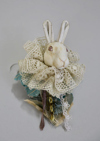 BUNNY ORNAMENT BLUE by artist Ragged Caravan (Alex Wells)