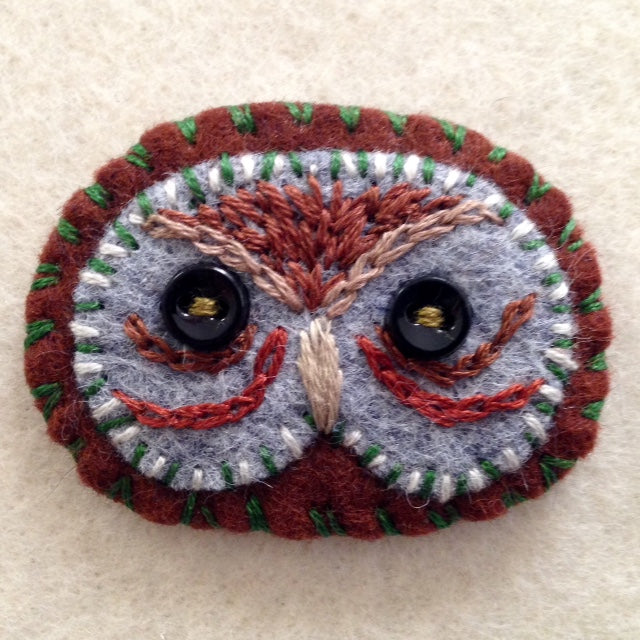 OWL BROOCH 2 by artist Ulla Anobile