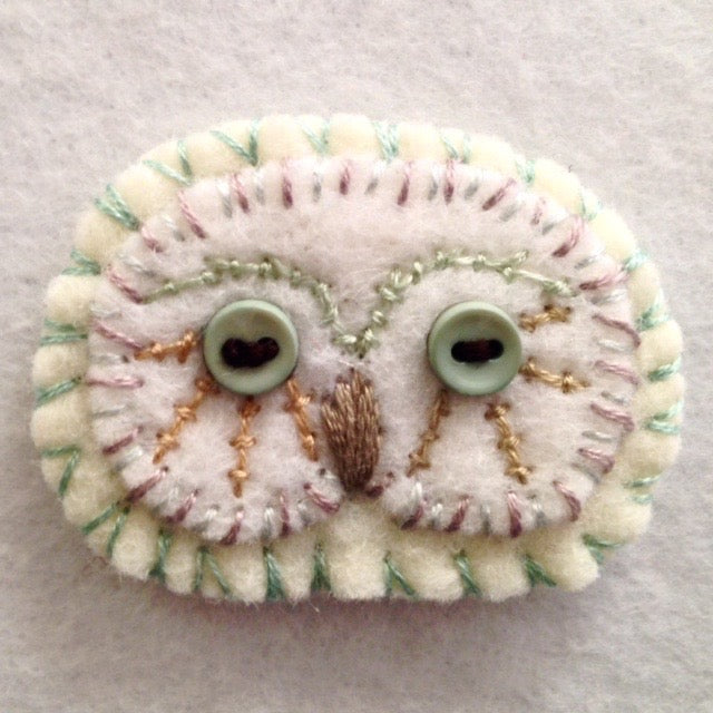 OWL BROOCH 6 by artist Ulla Anobile
