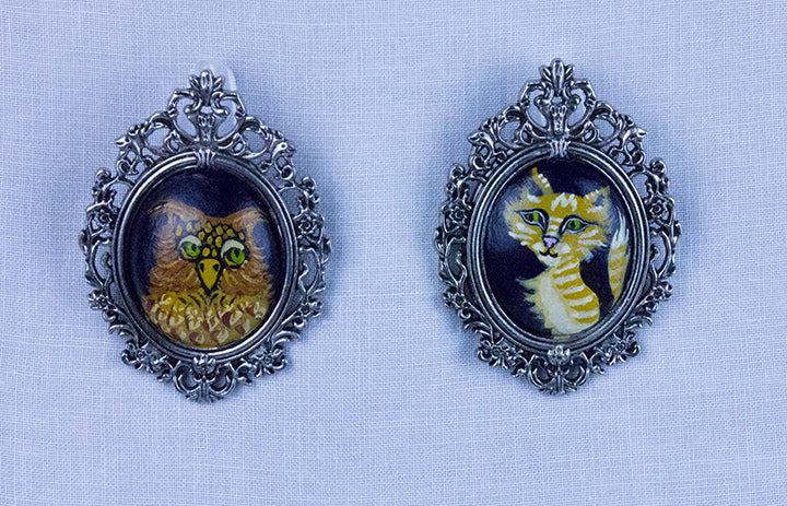 THE OWL AND THE PUSSYCAT SET by artist Lulu Moonwood Murakami
