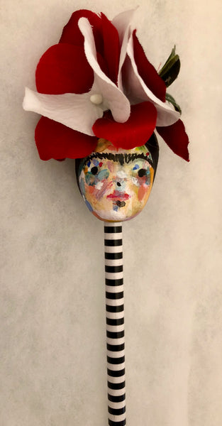 FRIDA ORNAMENT/PENCIL TOPPER 5 by artist Patricia Anders