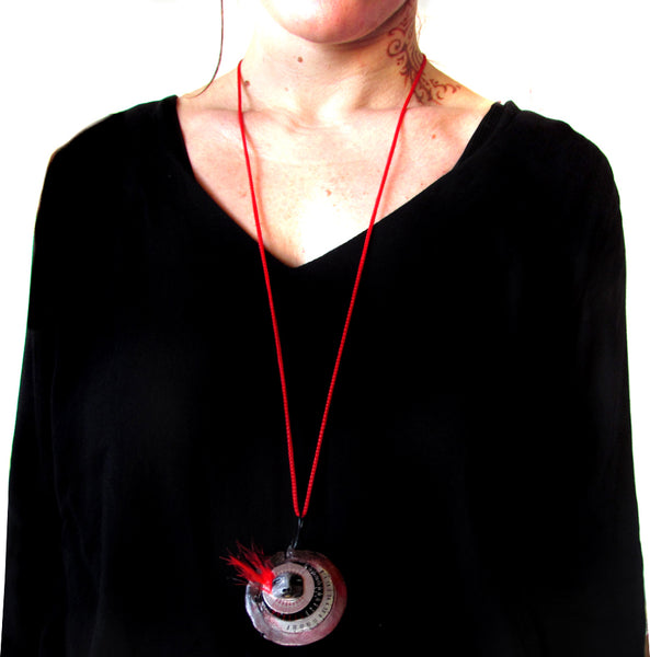 RED PENDANT 1 by artist Patricia Krebs