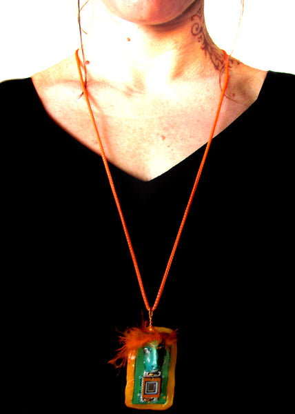ORANGE PENDANT 4 by artist Patricia Krebs