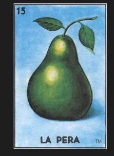 #15 LA PERA (The Pear) by artist Janet Olenik